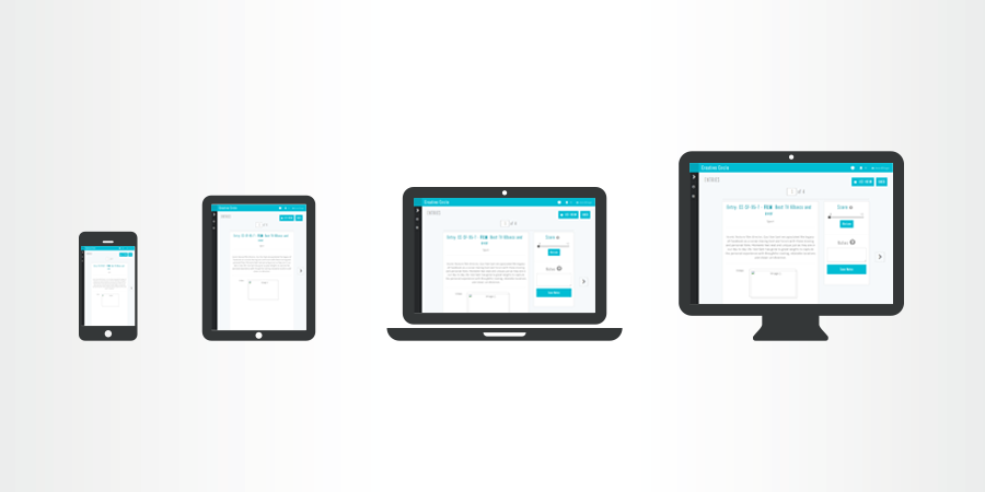 Tablet friendly judging screens
